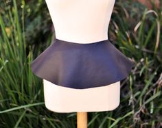 DIY Leather Peplum Belt