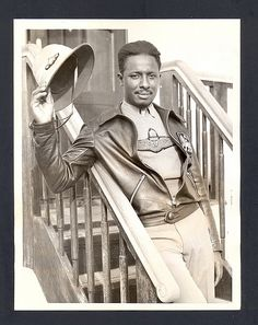 John C. Robinson, The Brown Condor - Born in Florida in 1903 and raised in Mississippi, Robinson graduated from the Tuskegee Institute in 1924. He went on to head Selassie's Ethiopian Air Force in the 1930s and to teach at Tuskegee in the 1930s and 40s. He died in 1954 due to burns incurred during the engine failure and crash of his training plane. (Information via Oxford African American Studies Center. Illustration via Nick Derington on Flickr)