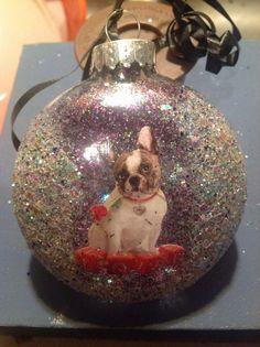 French Bulldog Adorable Sparkle Christmas by HopesSassyGlass