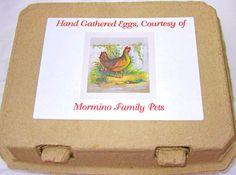 Homestead Revival: Inspiration Friday: Chicken Carton Labels