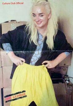 Boy George look good as a blonde.