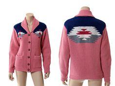 Vintage 70s Western Indian Sweater 1970s by CkshopperVintage