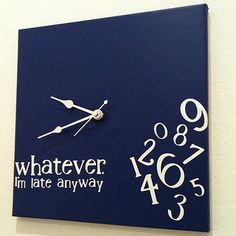 I sooo need this for my place! I'm always running late!