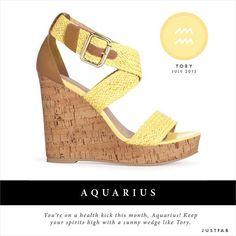 Aquarius read your July Fashion Horoscope. #JustFab #StyleScope