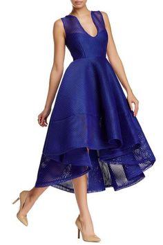 Issue Deep V Skater Dress