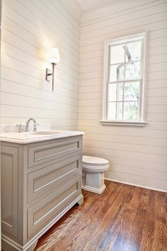 Cottage Powder Room with Crown molding, Newport Brass 800C/15 Polished Nickel Annabella Doulbe Handle Widespread Faucet