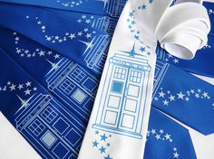 Timeless Wedding Necktie Set  5 Doctor Who TARDIS by binarywinter, $108.00 Emily and Rachael would love this