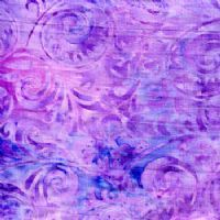 Flourishes on Light Purple Batik - New Island Batiks