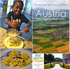 Learn about Austria and get your kids in the kitchen to make this Kaiserschmarrn Recipe: a popular Austrian dessert.