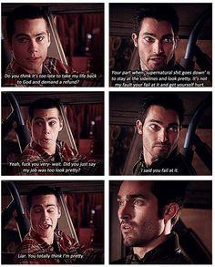 Haha lol, Teen Wolf - Derek and Stiles