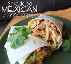 Shredded Mexican Chicken, in the Crock Pot or on the Stove Top from @jamiecooksitup