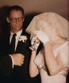 Marilyn and Arthur Miller getting married, 1956
