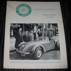 Rare MARCH APRIL 1950 SPORTS CAR Magazine SCCA HARD to FIND Early FREE US Ship