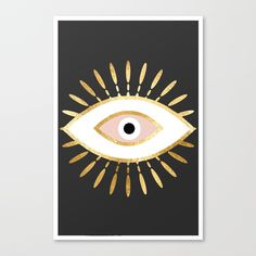 Buy gold foil evil eye in blush Canvas Print by sofiahawk. Worldwide shipping available at Society6.com. Just one of millions of high quality products available.