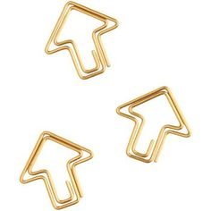 Fasten your papers in style with 9 gold arrow paper clips! Both fun and functional! From American Crafts.<br><br>Size - 3.5 x 6