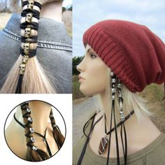 Hair Rope Vintage Punk Metal Skull Hairband Ornaments Women Ponytail Styling Headwear Diy Accessories Antique With 6 Pendants color 1 Gothic Hairstyles, Diy Hairstyles, Ponytail Styles, Hair Styles, Metal Skull, Hair Accessories For Women, Diy Accessories, Black Rope, Gothic Jewelry