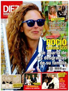 Portada de DIEZ MINUTOS número 3272 mayo 2014: Rocío Carrasco con gafas de terciopelo de 41 eyewear modelo GHOST color 50, disponibles en nuestra tienda online aquí → http://41eyewear.com/coleccion/sol/ghost/FO15008/50