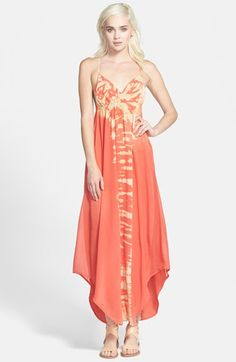 Gypsy 05 Strappy Tie-Dye Maxi Dress available at #Nordstrom