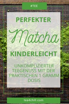 Praktisch und einfach zubereiten - immer die richtige Dosis Matcha Teepulver mit diesem praktischen Matcha-Stick #teeliebhaber #teezeit #matchaliebe Jasmin Tee, Oolong Tee, Mate Tee, Gourmet, How To Make Tea, Simple, Types Of Tea