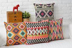 Modern Nordic cojín del sofá étnico bohemio de colores cálidos