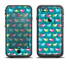 The Vibrant Colored Vector Bird Collage Apple iPhone 6/6s Plus LifeProof Fre Case Skin Set from DesignSkinz