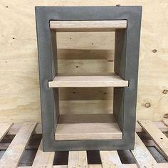 Bedside table // Concrete and hardwood  #gfrc #concrete #handmade #makers #furniture #polishedconcrete #vicash #timber