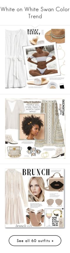"""""""White on White Swan Color Trend"""" by yours-styling-best-friend ❤ liked on Polyvore featuring Gap, Natasha Schweitzer, Chloé, Jonathan Simkhai, IRO, Bobbi Brown Cosmetics, Tory Burch, Louis Vuitton, monochrome and ankleboots"""