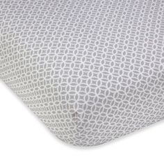 Wendy Bellissimo™ Mix & Match Geometric Fitted Crib Sheet in Grey/White - BedBathandBeyond.com