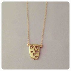 Adorable owl necklace