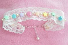 Kawaii angel fairy kei stars lace choker