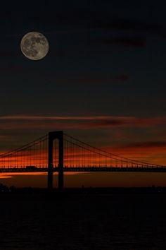 Moon over the bridge