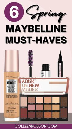 All new Spring 2020 Maybelline makeup must haves and how you can use them to create a natural elegant makeup look. #maybelline #drugstoremakeup #tutorial Best Drugstore Makeup, Maybelline Makeup, Makeup Bag Essentials, Elegant Makeup, Makeup Haul, Makeup Must Haves, Beauty Makeup Tips, Makeup Techniques, All Things Beauty