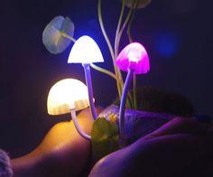 mushroom lamps!