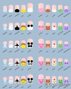 nail art tutorial / nail art designs + nail art + nail art designs for spring + nail art videos + nail art designs easy + nail art designs summer + nail art diy + nail art tutorial Manicure Nail Designs, Nail Manicure, Diy Nails, Manicures, Cute Nails, Nails Design, Nail Polish, Kids Manicure, Nail Art For Kids