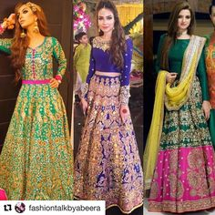 ・・・ heavily embellished lehngas are becoming wedding staples! As seen on and Simple Pakistani Dresses, Pakistani Outfits, Indian Dresses, Bridal Mehndi Dresses, Mehendi Outfits, Designer Bridal Lehenga, Indian Bridal Lehenga, Stylish Dresses, Elegant Dresses