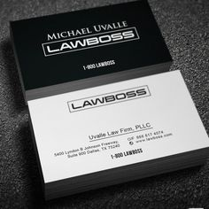 Law firm modern business card by GS Designs