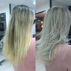 """@mulher_cheirosa's photo: """"Transformação incrível feita por @kazuonoto. Top top top! Adoramos o resultado! #hair #blonde #love #MCdesejo"""""""