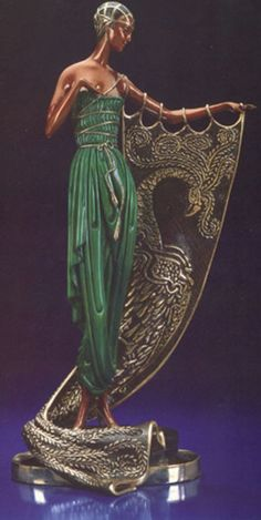 Emerald Night Bronze Sculpture by Erte