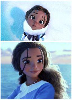 Eskimo Moana<< aww Eskimo moana kinda looks like katara from avatar the last airbender