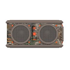 Skullcandy Air Raid Water-resistant Drop-proof Bluetooth Portable Speaker, Realtree, Dark Tan and Orange  The only portable Bluetooth speaker rugged enough to go as hard as you do. Features a rechargeable battery that will last up to 10 hours, and, of course, our Supreme Sound. The stainless steel frame and rubber boot should be clue enough – Air Raid needn't be left at home. Air Raid delivers a remarkable range of sound without sacrificing quality. Air Raid delivers a remarkable ran..