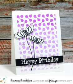 Mama Mo Stamps: Happy Birthday with CAS-ual Fridays Stamps 5th Birthday, Happy Birthday, Die Cut Cards, Hero Arts, Card Kit, Clear Stamps, Card Making, Bloom, Casual Fridays