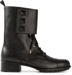Valentino Garavani 'Rockstud Noir Combat' boots on shopstyle.co.uk
