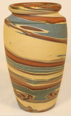 Niloak Pottery Mission Swirl Vase from Just Art Pottery