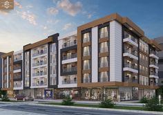 Building Elevation, Building Facade, Building Exterior, Archi Design, Facade Design, Exterior Design, Condo Design, Apartment Design, Plan Hotel
