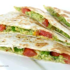 The Garden Grazer: Avocado Quesadillas (vegan) @keyingredient #cheesy #vegan