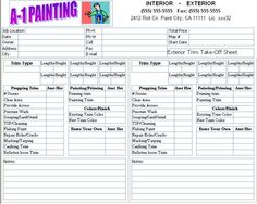Painting Proposal Template Google Search The Ocd In Me - Painting proposal template