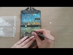 Made by Sannie: Edged Birthday card with video tutorial