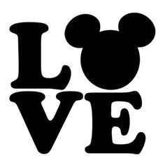Disney Love Die Cut Vinyl Decal PV999
