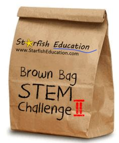 10 Easy STEM Projects for Engaging Students- The Brown Bag Challenge II – Starfish Education Stem School, Stem Classes, Steam Learning, Stem Projects, Engineering Projects, Steam Education, Stem Steam, Stem Challenges, Stem Science
