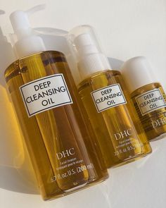 """This cleansing oil is one of my top favorite skincare products. It works extremely well to remove all the makeup off of my face and you only need a little bit! It doesn't leave my face feeling stripped and dry. This is an olive oil based cleansing oil. It is such a beautiful, smooth formula that removes makeup, sunscreen, etc. from your face with ease. Highly recommend this cleansing oil! 🤩"" Dry Face, Wash Your Face, Best Cleansing Oil, Oil Based Cleanser, Makeup Brush Cleaner, Olive Fruit, Best Oils, Deep, Waterproof Mascara"